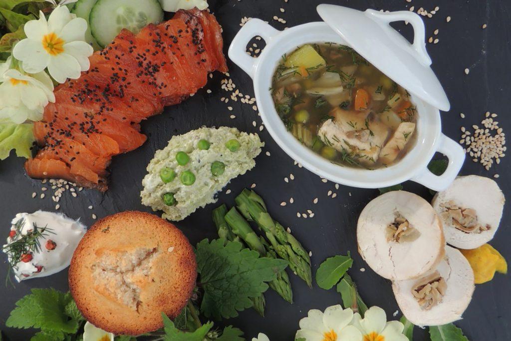 Assiette apéritive terre-mer à partager